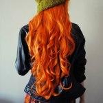 насыщенно покрашенные волосы